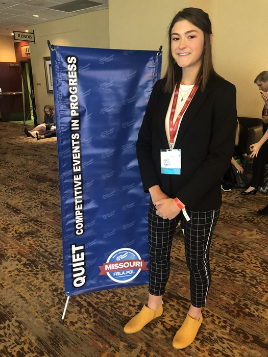 State FBLA Day 2- Emma presents 3-D animation.