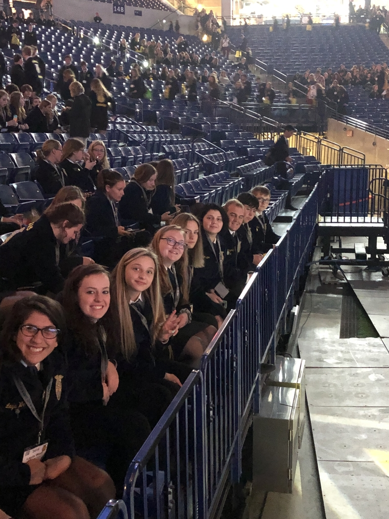 Mound City FFA members getting ready for the 1st general session of the 92nd National FFA Convention in Indianapolis, IN.