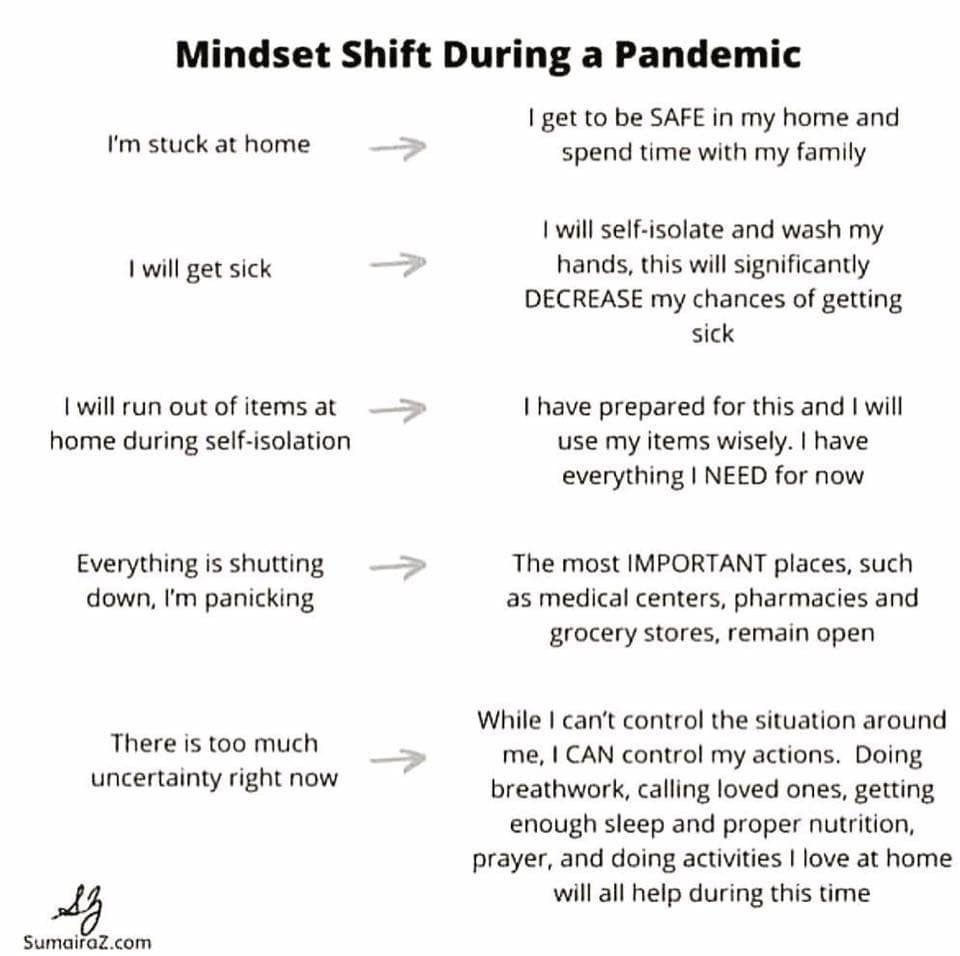 Mindshift during a pandemic